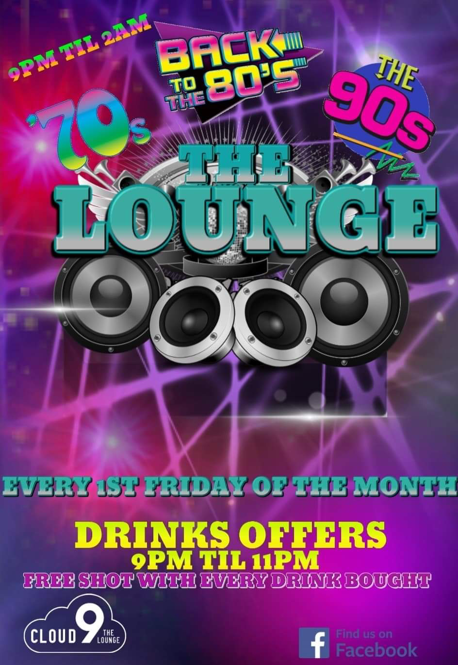 70s, 80s and 90s Night with DJ Cameron Lees @ The Lounge