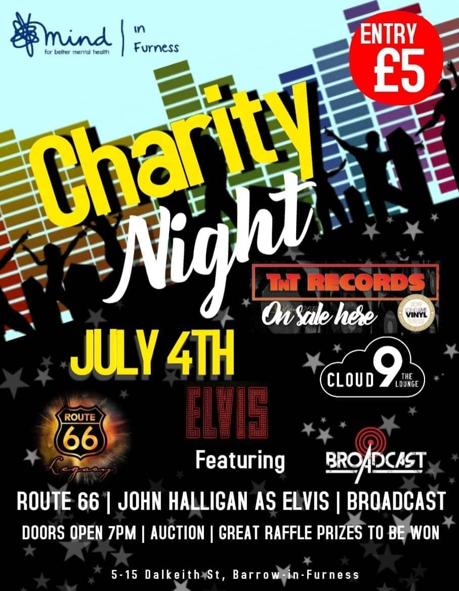 Charity Night - Route 66, John Halligan as Elvis and Broadcast